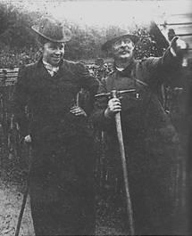 Emma Kürschner und Joseph Kürschner 1901 beim Bergsteigen