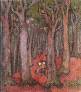Otto (Manigk) beim Malen im Ückeritzer Wald