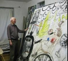 Oskar Manigk in seinem Atelier