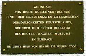 Gedenkplakette am Kürschnerhaus