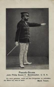 Poskarte: Hermann Nebe als Band-Leader John Philipp Sousa II