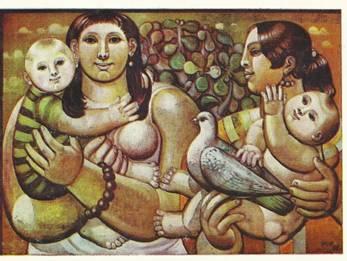 SKH Frauen mit Kindern und Taube, 1971