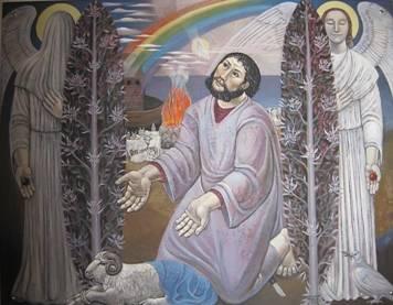 SKH:   'Noah beim Opfer'